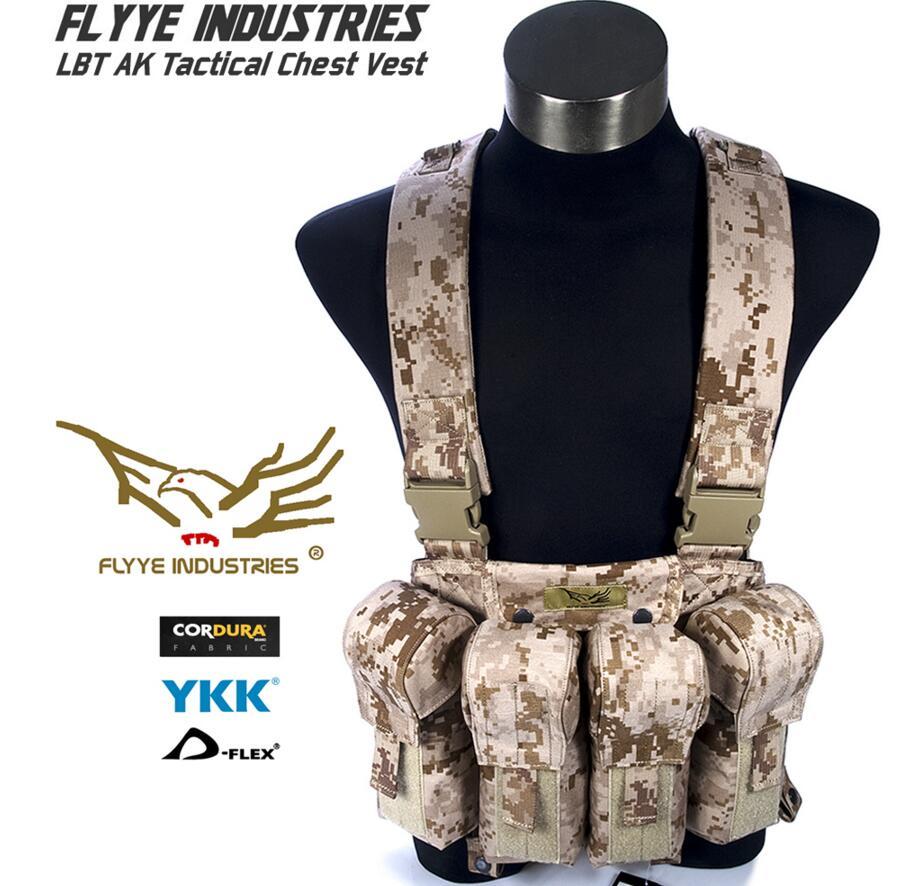 In stock FLYYE genuine MOLLE  LBT AK Tactical Chest Vest  Military Tactical Vest VT-C006 in stock flyye genuine molle force recon vest military tactical vest vt m013