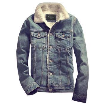 7a24eaba5e Huation nueva Parka hombres Denim Chaquetas y abrigos de invierno cálido  ropa de marca para hombre Jeans gruesos chaqueta abrigo chaquetas masculina