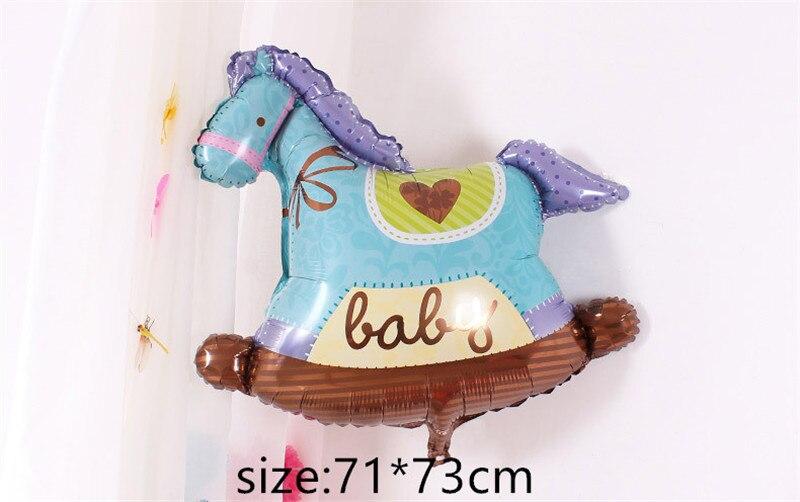 Воздушные шары из фольги для маленьких мальчиков, воздушные шары для детской коляски, шары для девочек на день рождения, надувные вечерние украшения, Детская мультяшная шапка - Цвет: 17
