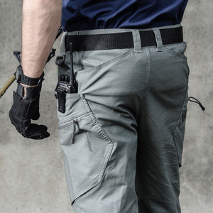 Image 1 - 2019 군사 육군 바지 남자의 도시 전술 의류 전투 바지 멀티 포켓 독특한 캐주얼 바지 ripstop 패브릭