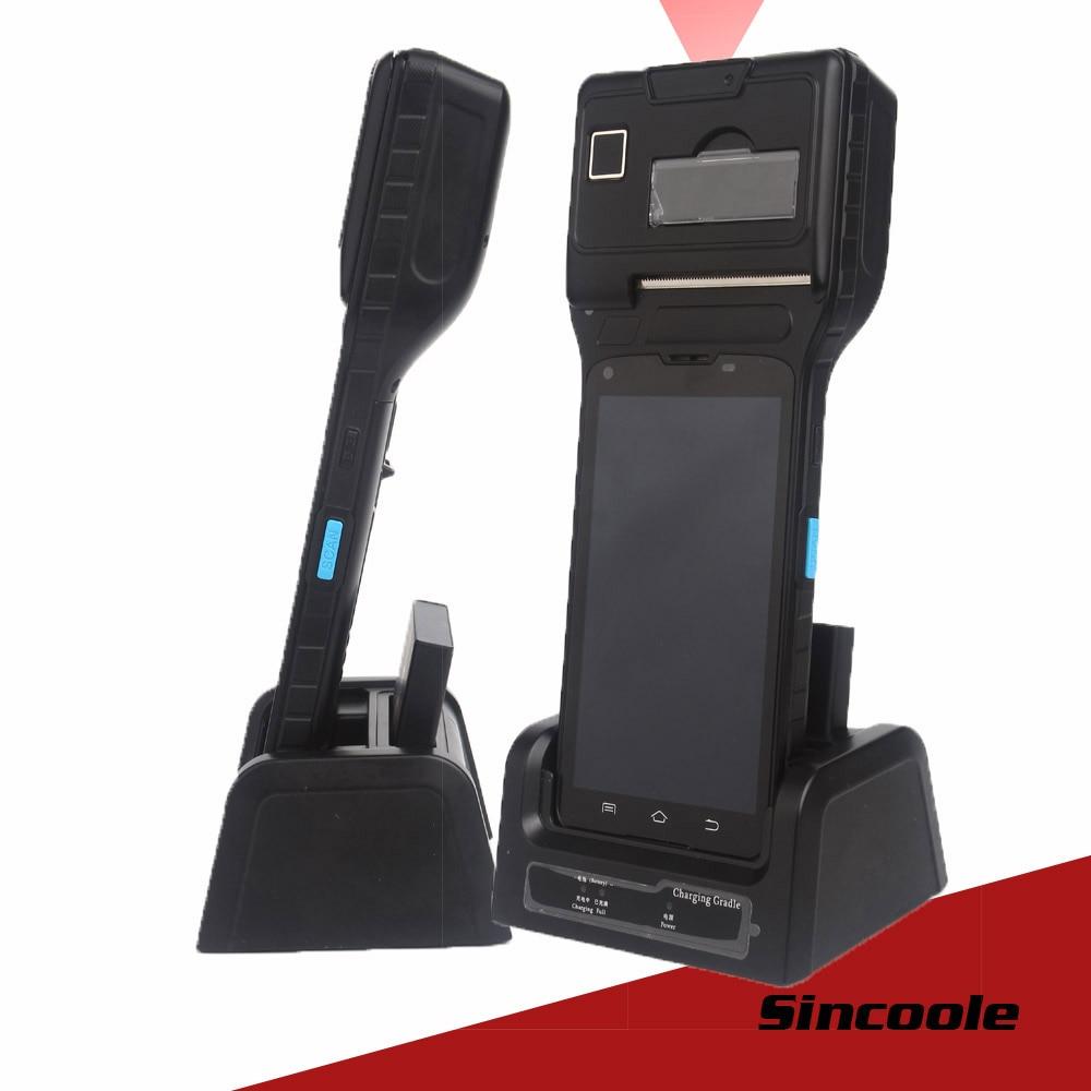 Sincoole 5 inch Android 5.1 4G LTE GPS BAIDOU GLONASS BT WIFI Terminal Genggam dengan 2D Barcode Scanner