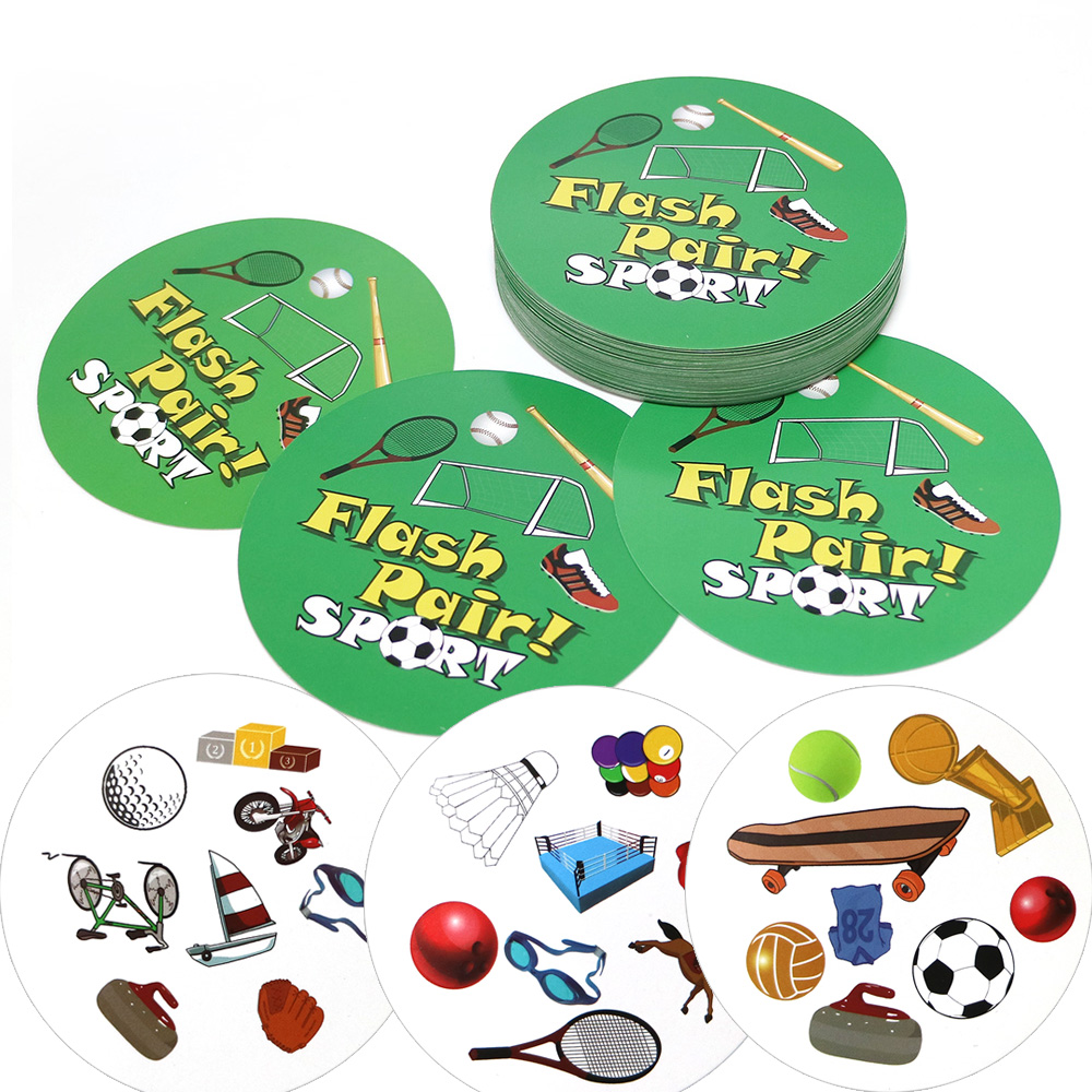 English Version Flash Pair Sport Board Games Spot For Party/Family/Friends Easy To Play It Cards Game