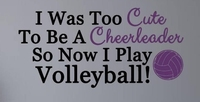 I Play Volleyball Sports Vinyl Wall Decal Lettering Volleyball Word Collage Mural Art Wall Sticker Bedroom Home Decoration