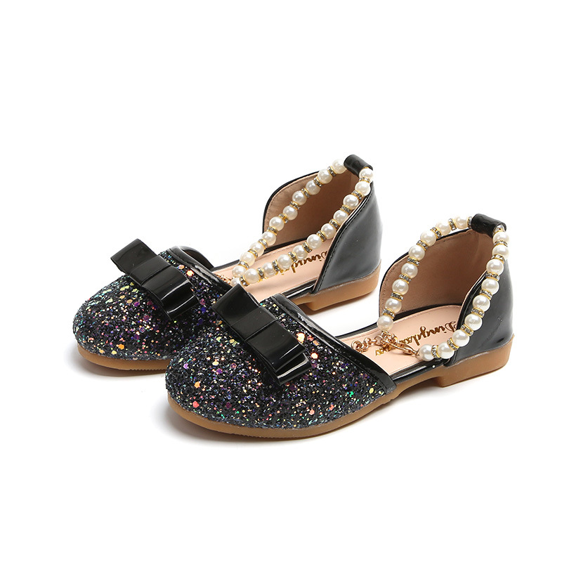 Girl Glitter Sandals Kids Shoes Summer Baby Children Flat Princess Pu Leather Fashion Be ...