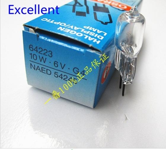 OSRAM 64223 10 W 6 V G4 lâmpada halógena 6v10w g4 semi-auto analisador de química fotômetro luz do projetor lâmpada