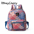 Winter Of 2016 Korean Version Of The New Street Fashion Trend Color Woven Bag, Backpack Style Female Leisure Backpack Women