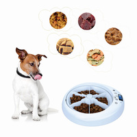 Home Digital Clock Portion Control Distribution Alarms Food Dispenser Universal 6 Meal Trays Pet Automatic Feeders LCD Display