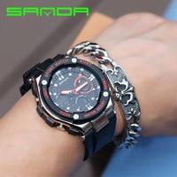 SANDA Brand Men G Style Sport Watch Dual Display Analog Digital Shock Male Clock Relogio Masculino