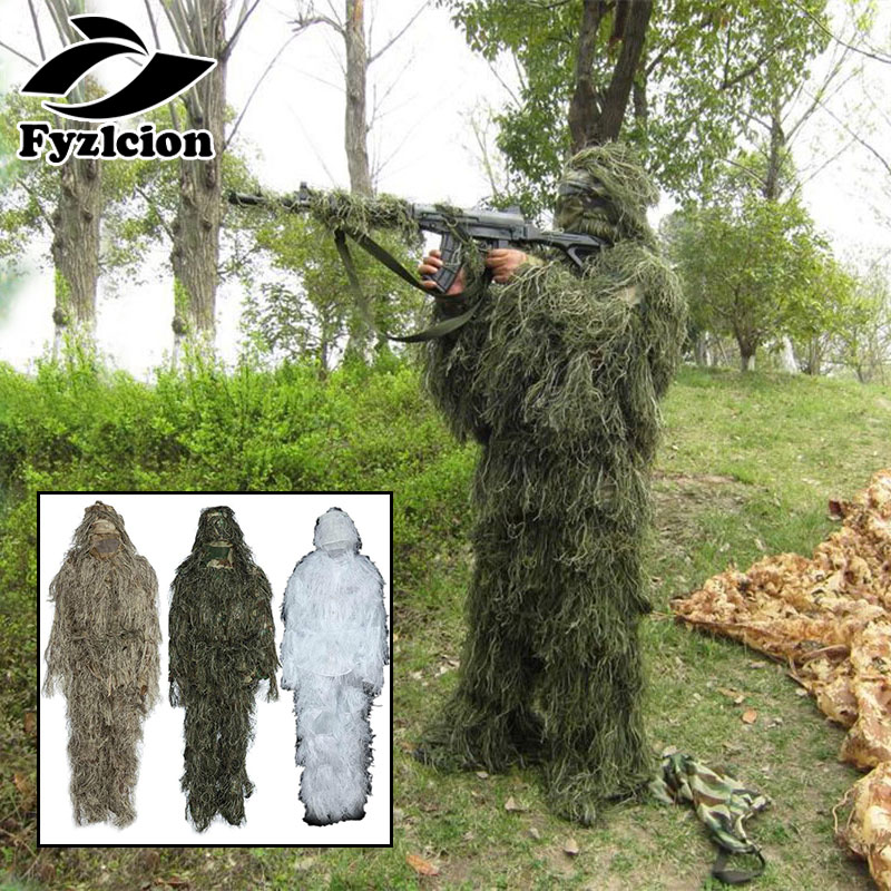 Hunting Woodland Camo Sniper Ghillie Suit Blind Sniper Scope Mount Camouflage Clothing 3D Camouflage Tree Stand Set