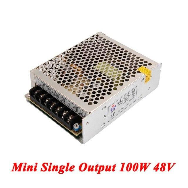 Mini convertidor dc ac 100 W 48 V 2A, fuente de alimentación de CC de salida única para tira Led, fuente de alimentación conmutada AC110V/220 V a CC 48 V