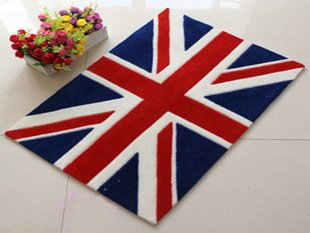 European Style Union Flag Carpet Union Jack Floor Mat Handmade Rug  Anti Slip Modern Carpet