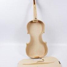 Yinfente белая незавершенная скрипка Пламя клен и ель дерево без клея скрипки аксессуары скрипки части 4/4 полный размер