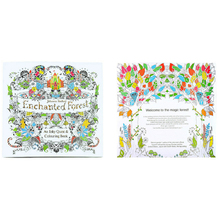 1 Pcs 24 Pages Enchanted Forest English Version Relieve Stress Coloring Book For Children Funny Kill