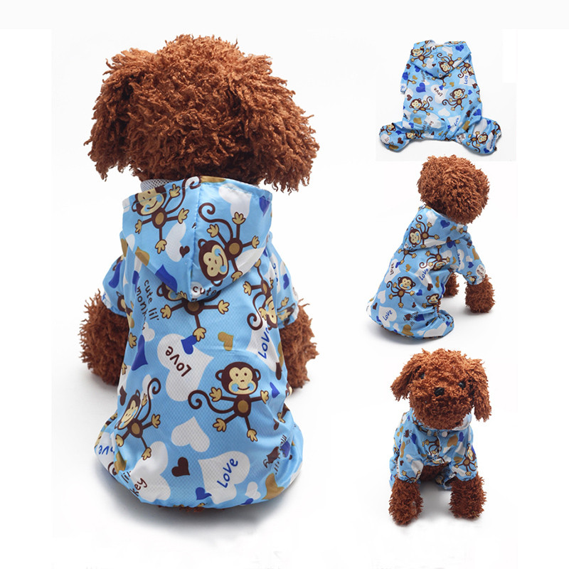 Hot Sales Cheap High Quality Pet Dog Hoodie Hooded Rain Coat Clothes Dogs Puppy Casual Waterproof Jacket Hot