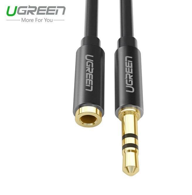 font b Ugreen b font 3 5mm earphone aux audio extension cord cable Aluminum shell