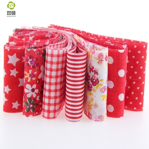 7pcs/lot red color Royal Brown Theme 100% Cotton Fabric Strips Quilting Jelly Roll Patchwork Crafts For DIY Sewing Toys 5*100CM(Hong Kong,China)