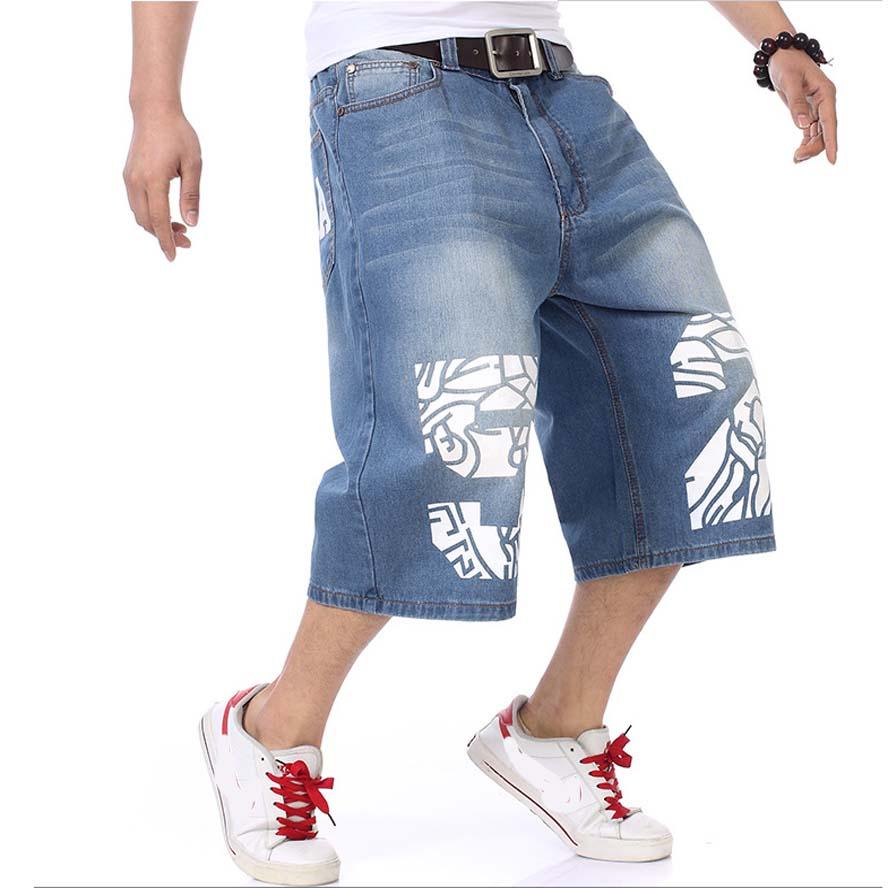 Summer Men's Shorts Stretch Casual Lightweight Blue Denim Jeans Short Bermuda Size 30 32 34  36 38 40 42 44 46 Shorts