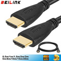 Popular HDMI Cable video cables gold plated Male hdmi splitter 1.4 1080P 3D Cable for HDTV 0.5m 1m 1.5m 2m 3m 5m 10m 12m 15m 20m
