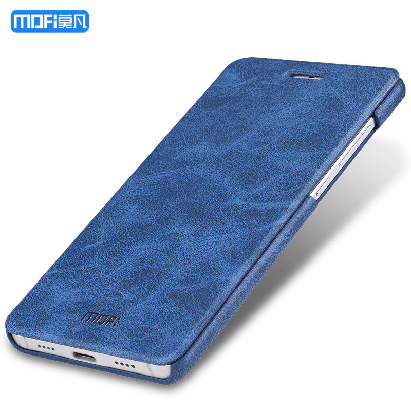 Per xiaomi mi 5 della copertura di caso per xiaomi mi 5 della copertura di caso di filp Dell'unità di elaborazione di cuoio MOFi linea blu navy marrone per xiaomi 5 coque capa 5.15