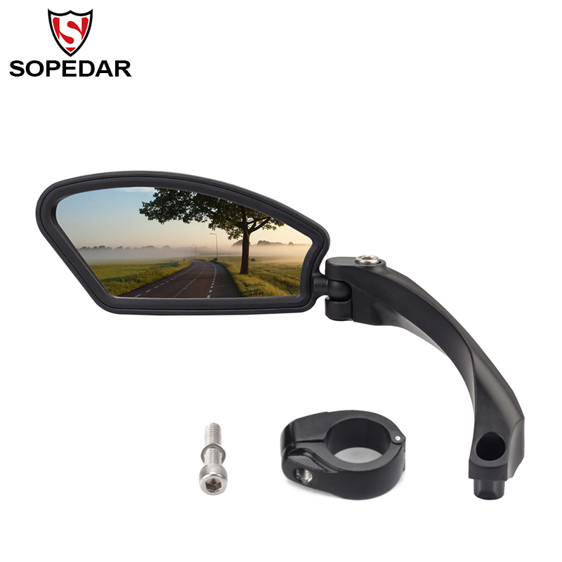 Cycling MTB Bicycle Mirror Mountain Bike Rear View Mirror Handlebar Back Blind Mirror 360 Rotation Safety Bike Rearview Mirrors цена