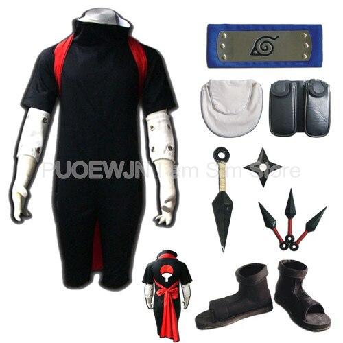 Naruto Sasuke Uchiha Cosplay Costume Full Set
