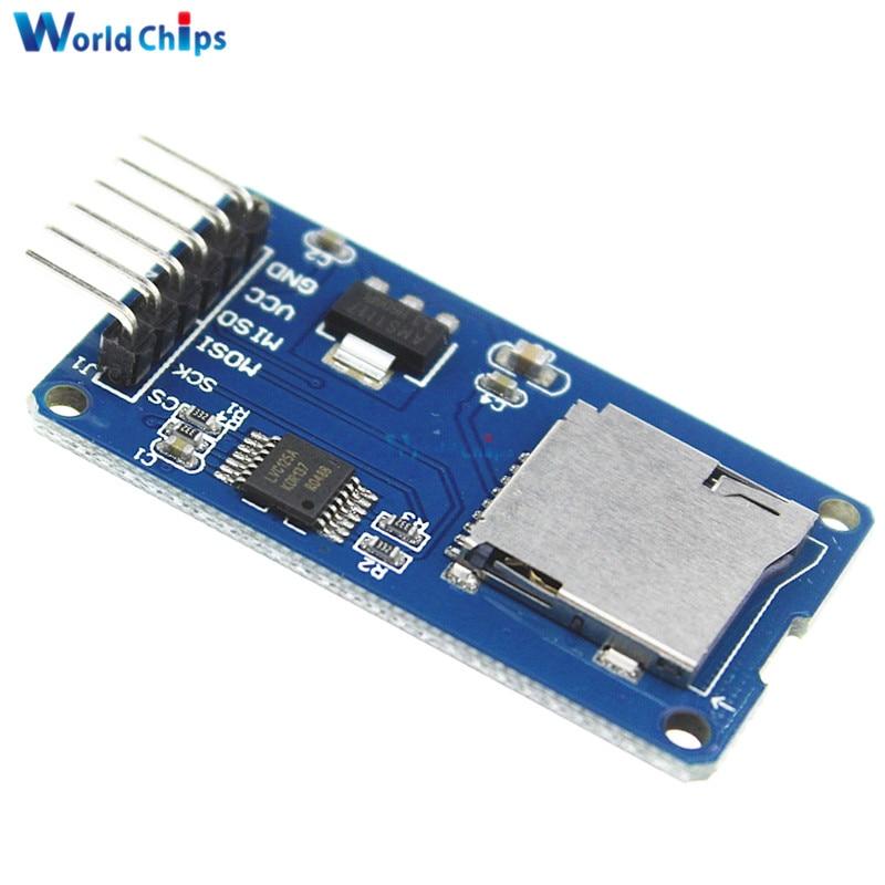 Micro SD для хранения Совета Mciro адаптер SD карты памяти щит памяти Модуль расширения SPI интерфейсы для Arduino AVR микроконтроллер