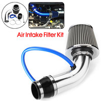 3'' Chrome Universal Car Cold Air Intake Filter Induction Pipe Hose System Kit Filter Tube System Brand Auto Air Intake Hose