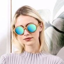 46128c478 Angcen Design de Moda De Bambu Óculos De Sol Das Mulheres Do Vintage Rodada  óculos de Sol óculos Polarizados Senhoras de Luxo co.