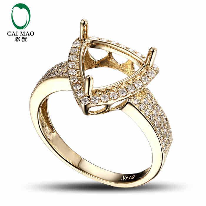 Diamond Ring Settings In Yellow Gold
