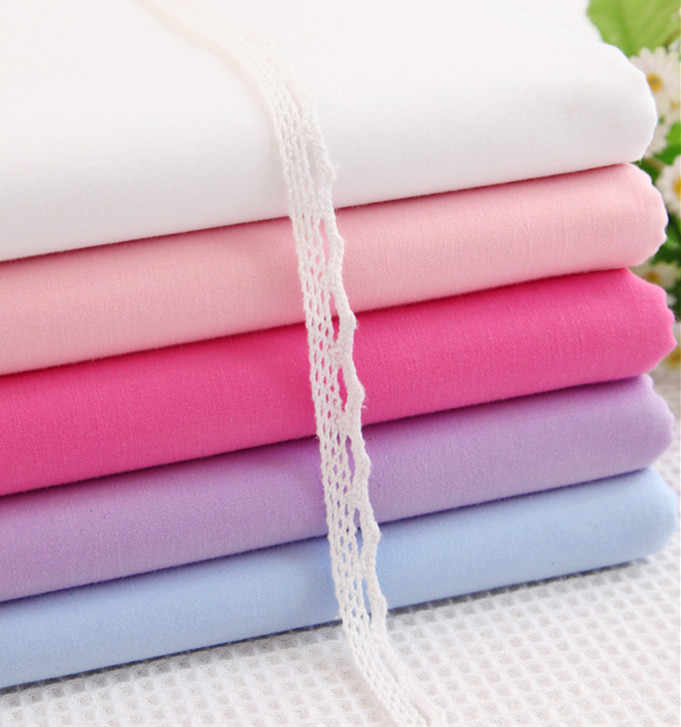 160cm*50cm  solid color  100% cotton bedding fabric baby bedding child handmade pillowcase curtain quilt sewing patchwork fabric