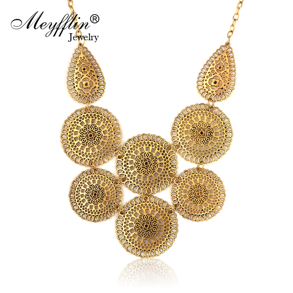 بیانیه Maxi Necklaces & Pendants Bijoux Collier Femme For Women Collar 2019 Mujer Fashion Vintage Gold Choker Colour Jewell