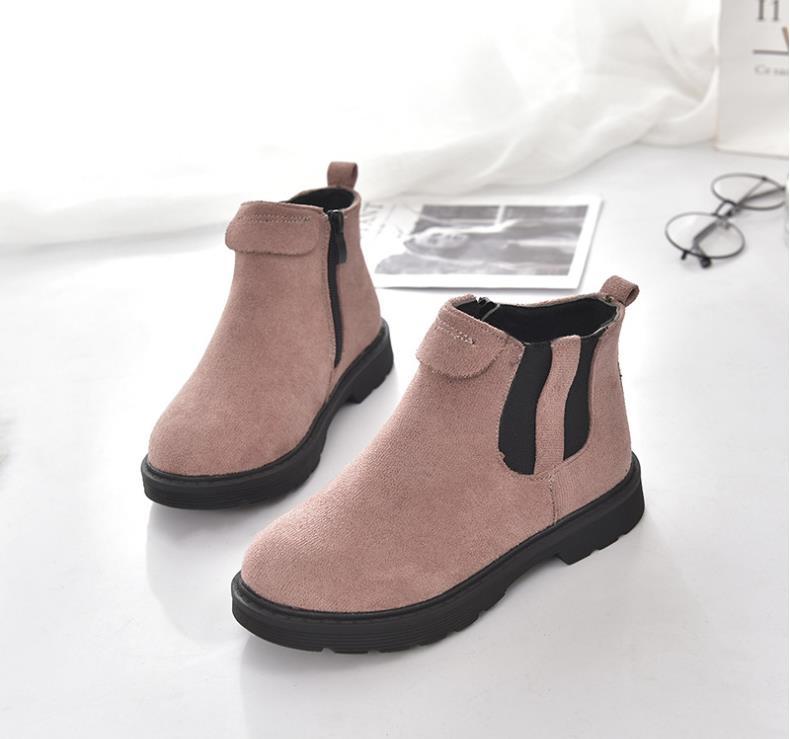 61c7c4d6e3af8 Botas de algodón de Otoño Invierno para niñas HaoChengJiaDe nuevas botas de  Martin para chico niñas chico niños grandes botas de estilo británico para  niñas ...