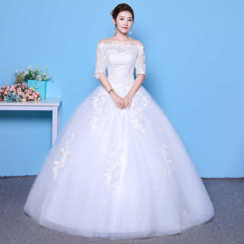 2020 Nuovo a Buon Mercato Abiti da Sposa Mrs Win Abito di Sfera Elegante Abito da Sposa Della Principessa Più Il Formato Vestido De Noiva Robe De mariee F