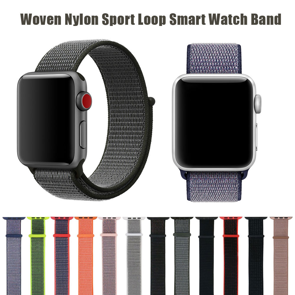 New Sport loop For Apple Watch band 42mm 38mm for iWatch 3/2/1 nylon watch strap bracelet watchband hook-and-loop closure clasp mu sen woven nylon band strap for apple watch band 42mm 38 mm sport fabric nylon bracelet watchband for iwatch 3 2 1 black