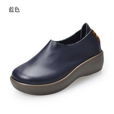 Nouvelle Noir En Fleur bleu Rond Bout Femme Cuir blanc Appartements Femmes Chaussures Mode Belle Véritable marron forme De light Vachette Brown Pleine Plate rouge rt48TqUr6