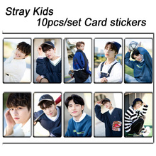 10pcs/set Stray kids KPOP photo cards stickers album sticky adshesive kpop Stray kids lomo card photocard sticker SKD00705 купить недорого в Москве
