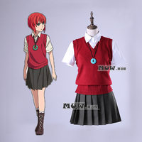 STOCK Anime The Ancient Magus Bride Hatori Chise School Uniform Sweater Necklace Cosplay Costumes For