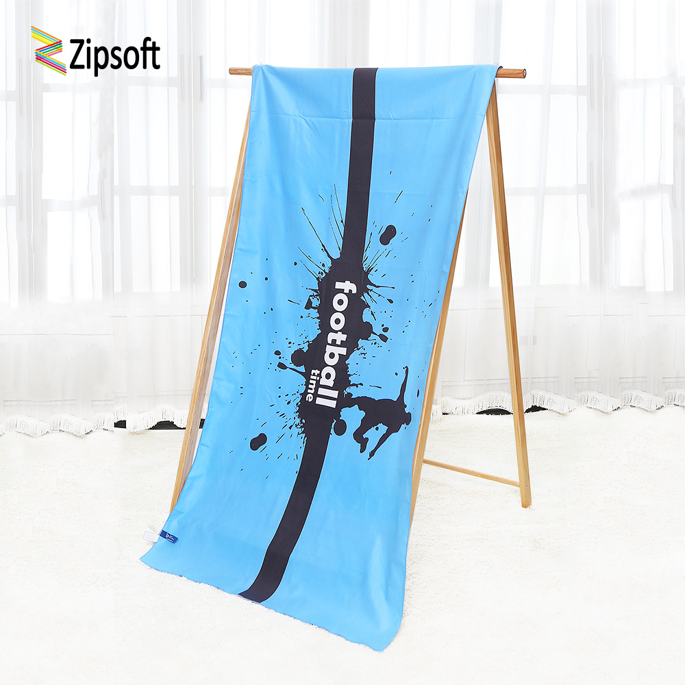 Zipsoft Beach towel Brand 2018 Football Time Serviette Plage Microfiber Large Compressed Towels Swimming Camping Sports Blanket
