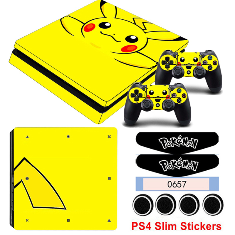 PS4 Slim Stickers For Playstation 4 Slim Console&Controller Gamepad Skin Decals Game Style Protective Accessories Sticker