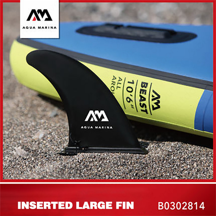 AQUA MARINA Water Sports Insertion Type Large Fin SUP Surfing Board Accessory Standing Surfborad Stabilizer Inflatable Surfboard