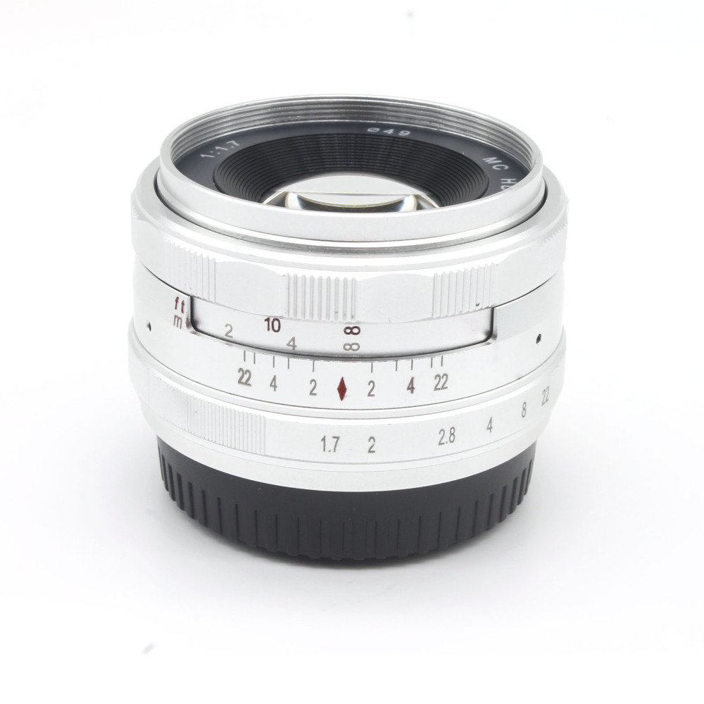 NEWARRIVAL 35mm F1.7 Wide angle Manual Lens for Fujifilm Fuji X T1 XT1 X  pro1 X pro1s X E2 XE2 X E1 X M1 X A1 X A2 Camera silver-in Camera Lens ...