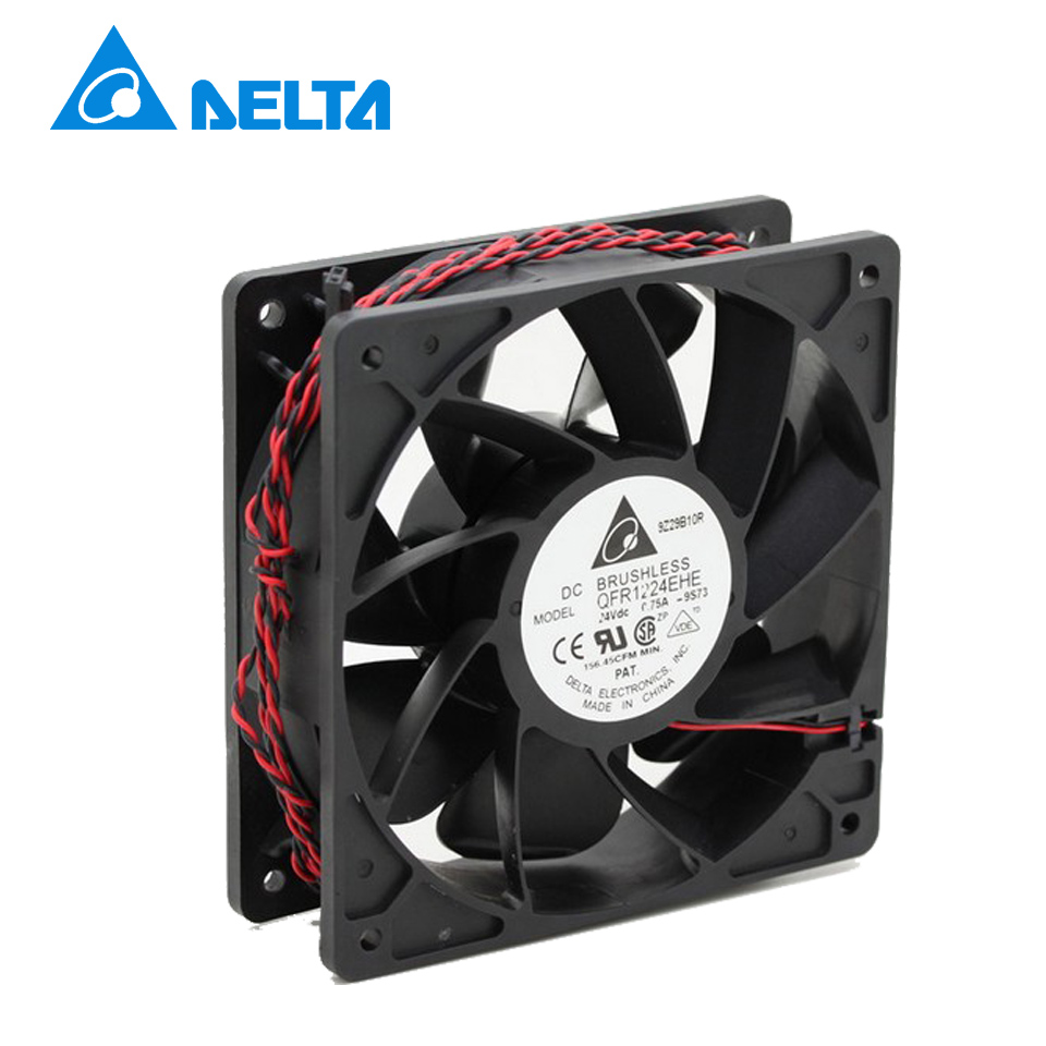 New and Original QFR1224EHE 12038 12cm 24V 0.75A wind capacity inverter fan for Delta  120*120*38mm original delta ffb1224she 12cm 120mm 12038 120 120 38mm 24v 1 20a cooling fan