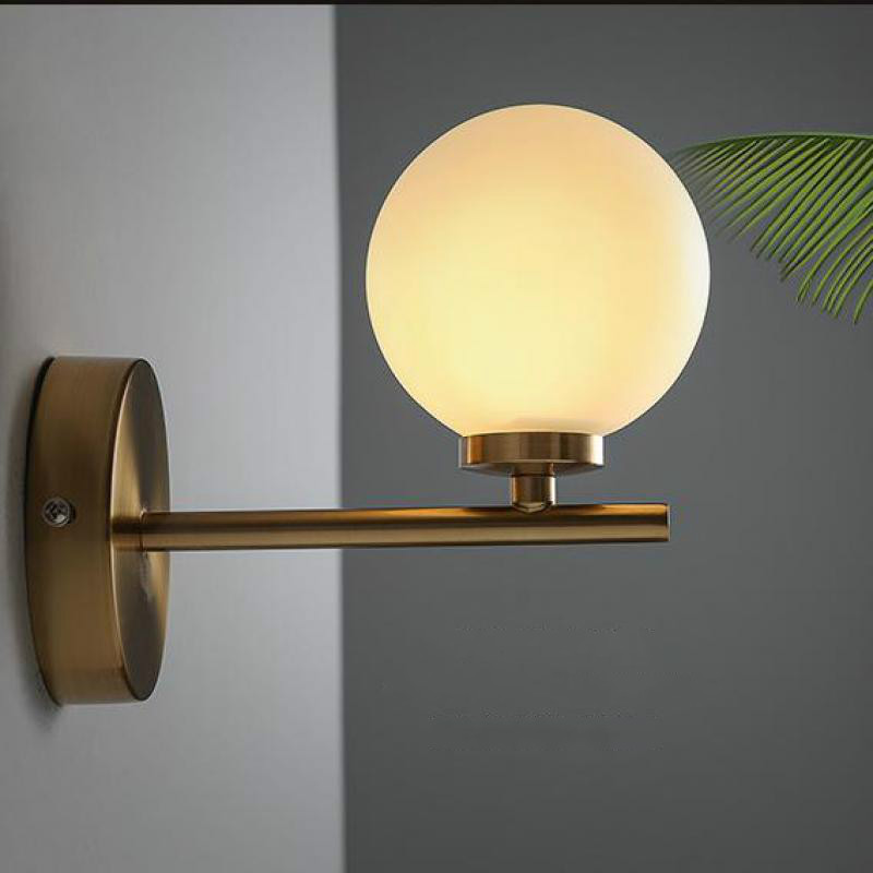 Modern Minimalist Led Wall Lamp, Glass Lighting Bedroom Wall Lamp Lights For Bathroom E27 Lights For Home Mirror Light modern lamp trophy wall lamp wall lamp bed lighting bedside wall lamp