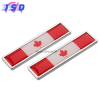 2 Pcs Car Decoration Decal Auto Sticker With Canadian Flag Logo For Toyota Yaris Dodge Journey