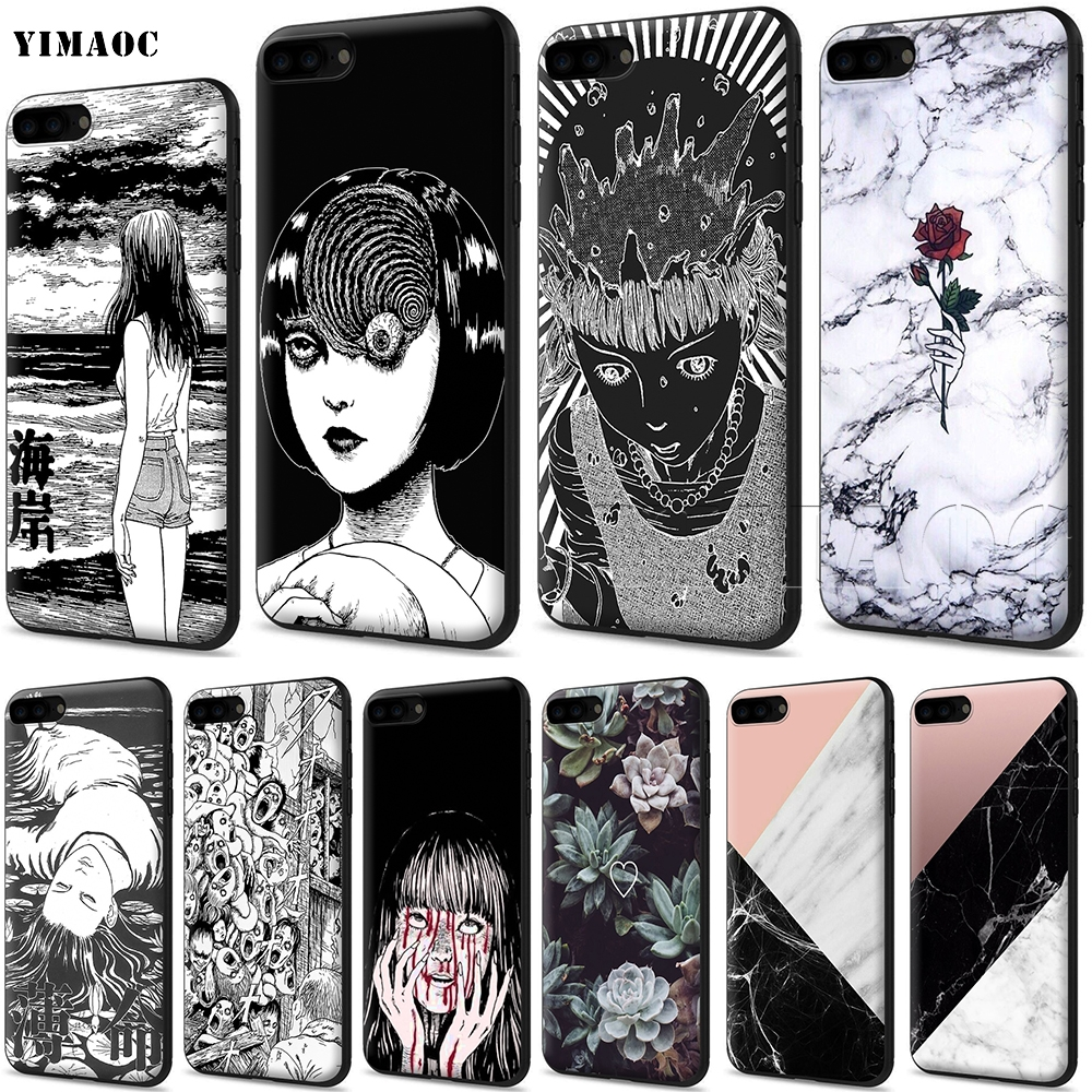 YIMAOC Junji Ito Tees Horror Soft Silicone Case for iPhone XS Max XR X 8 7 6 6S Plus 5 5s se