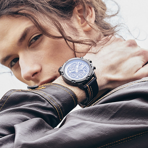 Image 4 - NAVIFORCE Herrenmode Sport Uhren Wasserdicht Lederband Kreative Analog Quarz Armbanduhr Männer Uhr Relogio Masculino