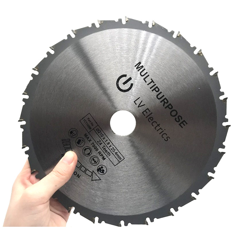 1pcs 210mm Wood Cutting Metal Circular Saw Blades 24T for Tiles Ceramic Wood Aluminum Disc Diamond Cutting Blades