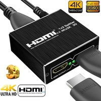 HDMI Splitter 2.0 1x2 4K 60Hz Support HDCP 1.4 UHD Amplifier 1 Input 2 Output hdmi Switch Box For PS4 Projector Blu ray DVD HDTV