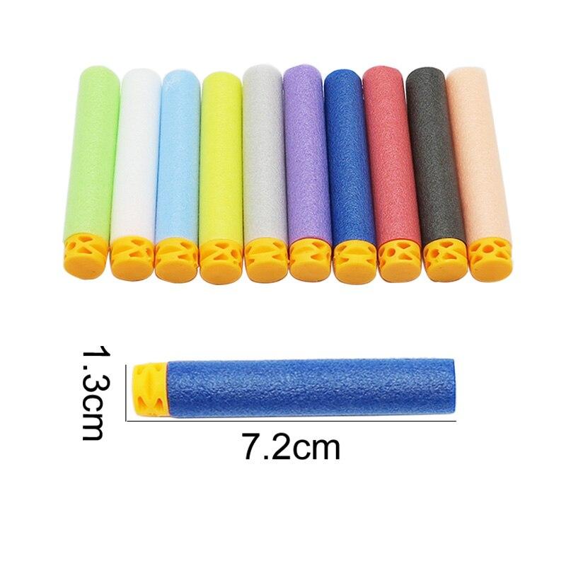 50 pcs Dart Refills Flat Soft Head Foam Bullets font b Toy b font Gun 7