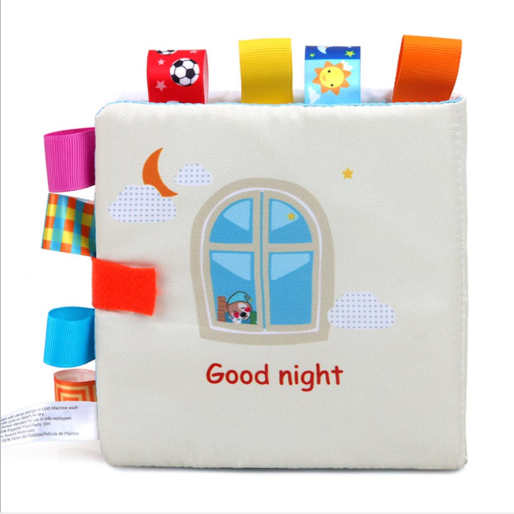 Early Education Baby Cloth Book Baby Tear Not Bad Puzzle Reading Toy Parent-child Interactive Learning Cloth Book